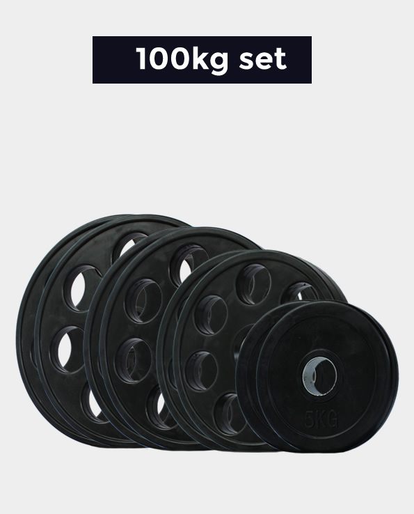 Dumbbell Set Souq: Rubber Olympic Weights Set