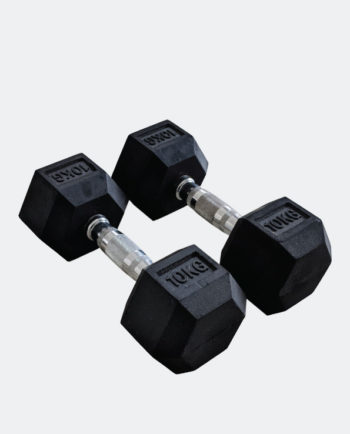 Rubber Hex Dumbbells 10kg Pair