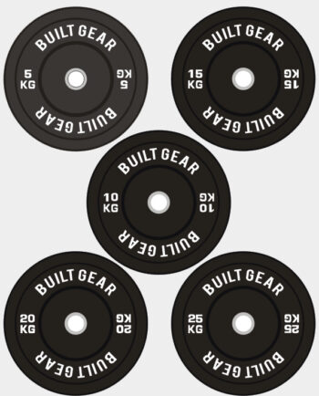 Built Gear Black Contrast Olympic Bumper Plate