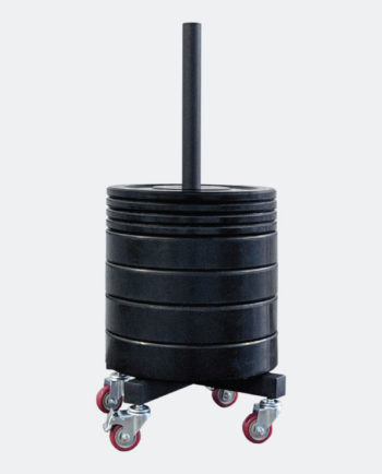 Rolling Bumper Plates Storage