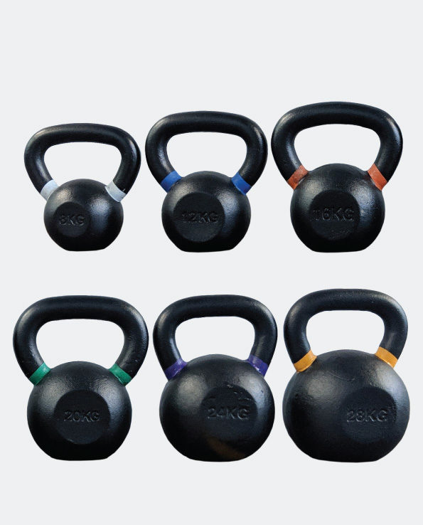Powder coated kettlebells gym garage