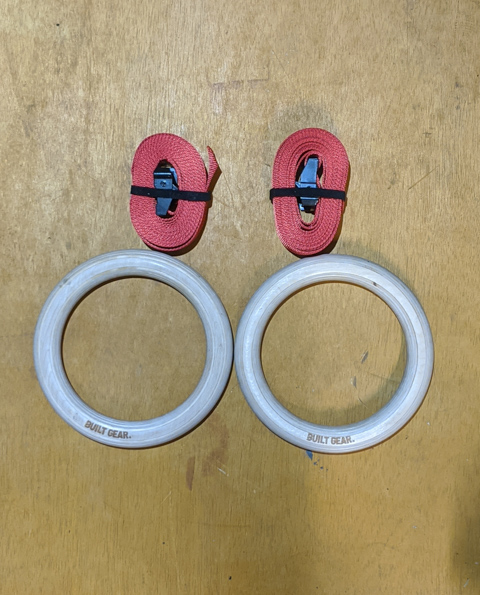 32mm Wooden Gym Rings